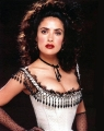 Salma Hayek posing in gorgious dress with plunging neckline