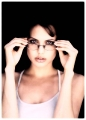 Angelina Jolie wearing glasses
