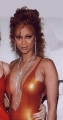 Tyra Banks wearing hot dress with sexy neckline