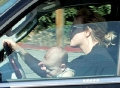 Britney Spears and her kid driving