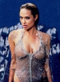 Angelina Jolie all wet wearing swimming suite