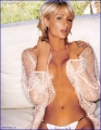 Paris Hilton posing topless