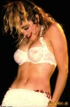 Madonna wearing white hot lingerie